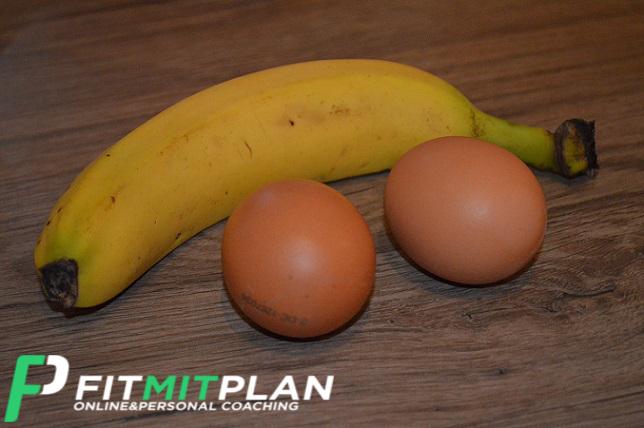 Bananen Pancake mit Ei ohne Mehl - Zutaten