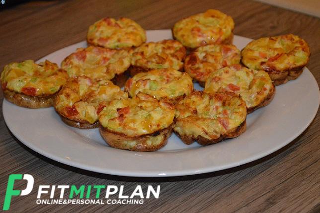 Gemüse Muffins mit Ei - Serviervorschlag