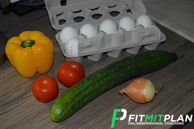 Gemüse Muffins mit Ei - Zutaten
