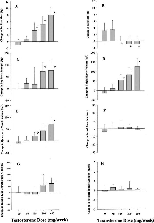 Testosteron Enantat - Studie #4 - Stagnierende Muskelzuwächse bei erhöhtem Konsum