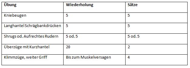 5x5 Training Schwerelast 3