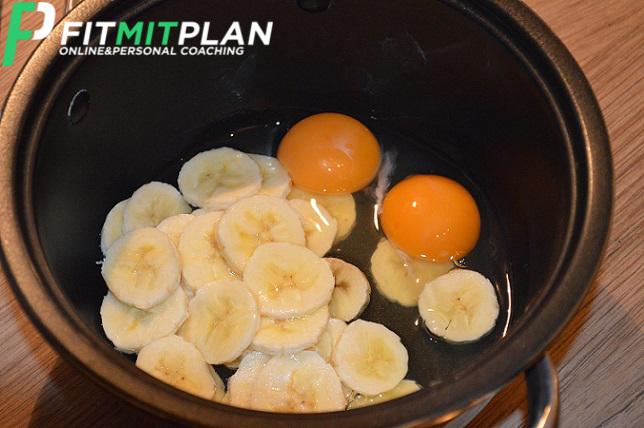 Bananen Pancake mit Ei ohne Mehl - Zubereitung